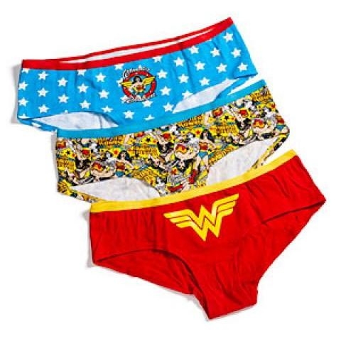 ThinkGeek :: Wonder Woman Boyshorts 3-Pack Panties