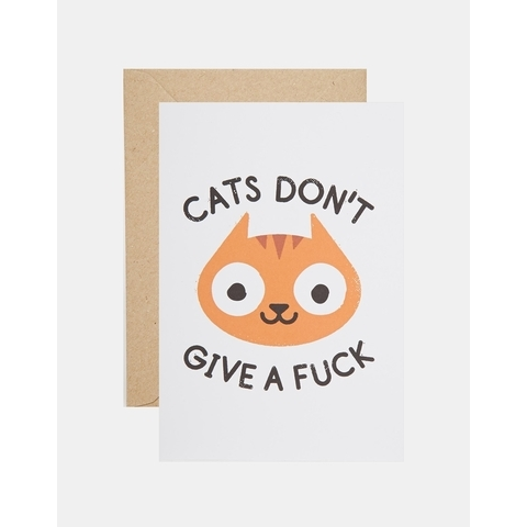 OHH DEER | Ohh Deer - Cats Don't Give a Fuck - Carte chez ASOS