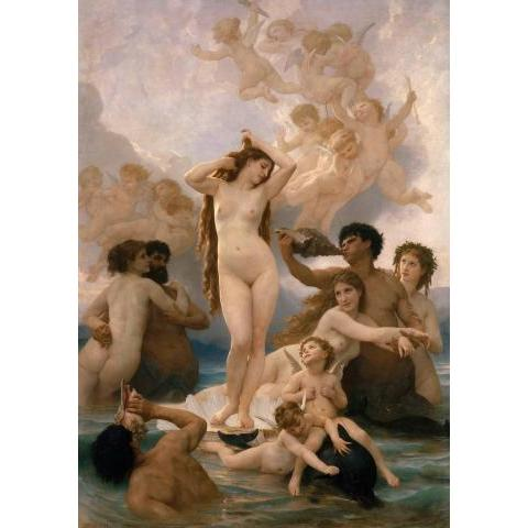 Naissance de Vénus de William Bouguereau - Reproduction d'art haut de gamme