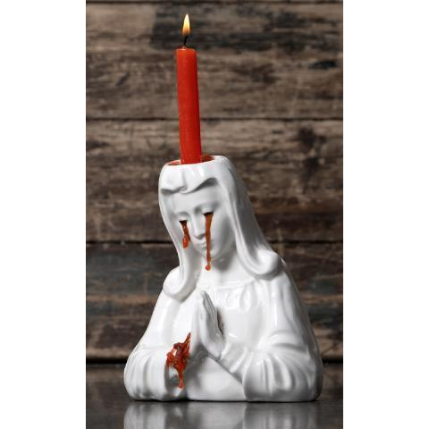 Crying Mary Candle Holder - Disturbia Clothing