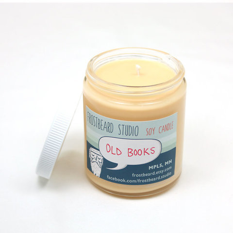 Old Books  Book Lovers' Scented Soy Candle           by Frostbeard