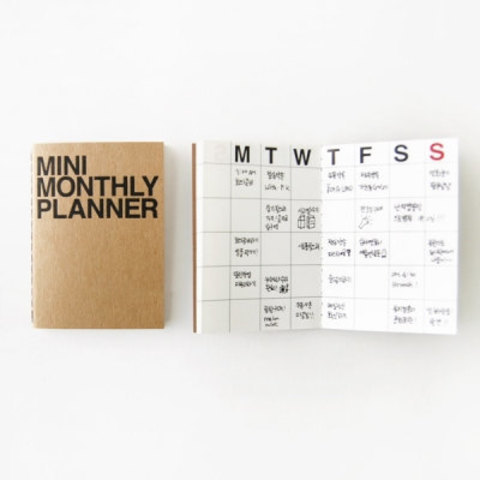 Monthly Planner Notebook / Monthly Diary / Kraft by DubuDumo