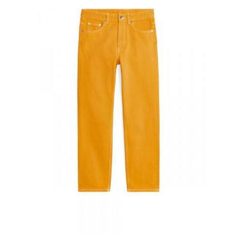 Cropped Overdyed Jeans - Yellow - Jeans - ARKET FR