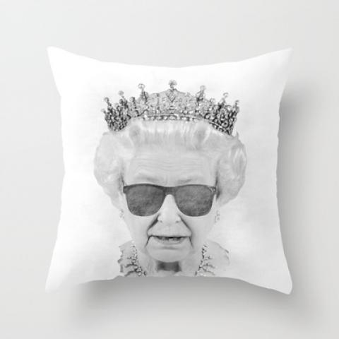 QUEEN Throw Pillow by Pirates Office | Society6